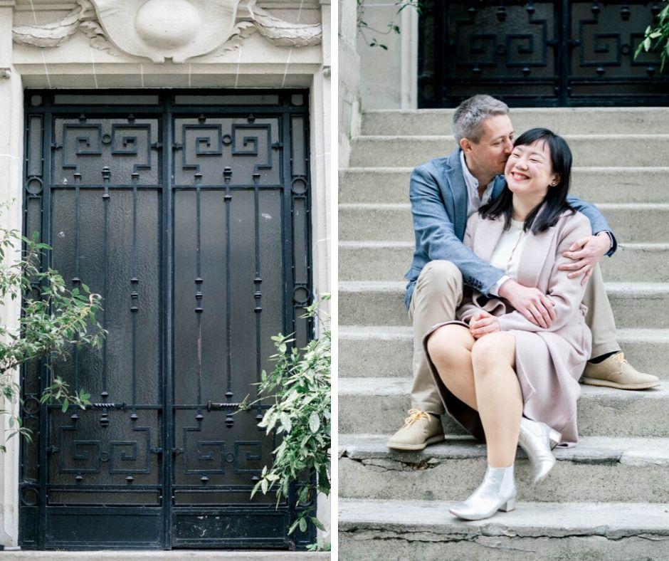 Couple in Paris Sylvia Calmet wedding fine art photographer