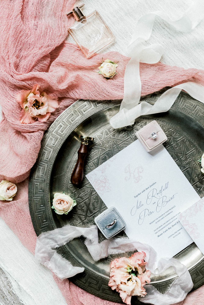 Luxury Flat lay design by Sylvia Calmet Fine art wedding photographer provence