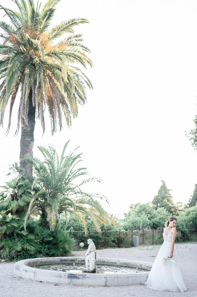 Mariée à la villa Brignac photographiée par Sylvia Calmet