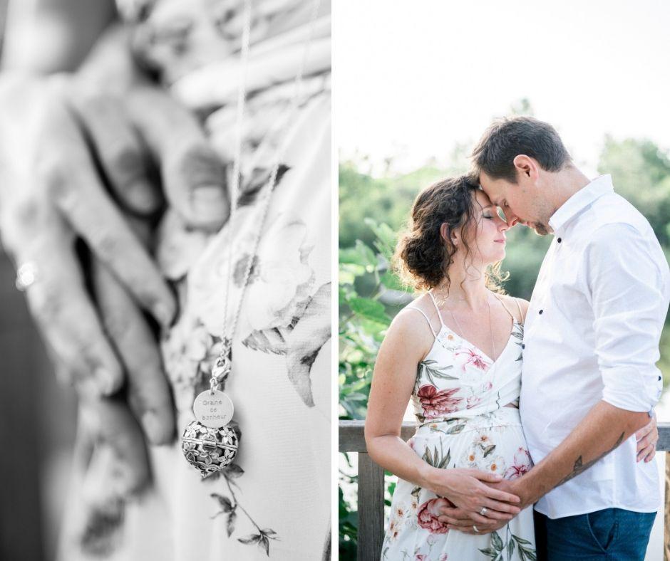 Détails lors d'une séance grossesse à Salon de provence par Sylvia Calmet photographe de mariage en provence