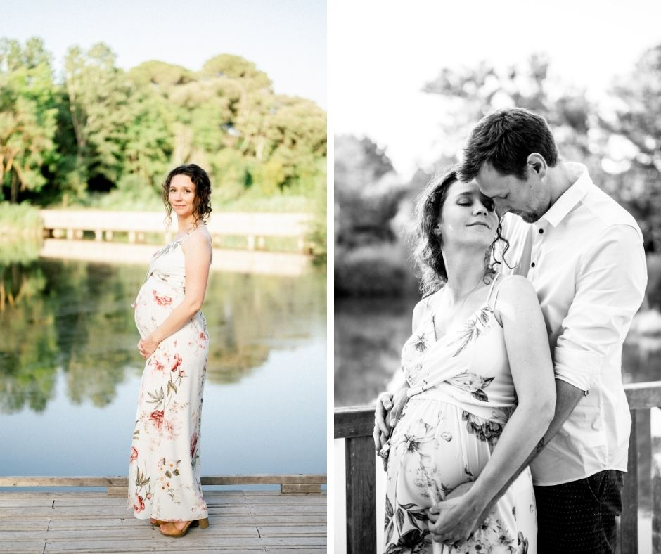 Une séance grossesse en provence immortalisée par Sylvia Calmet photographe de mariage à Salon de provence