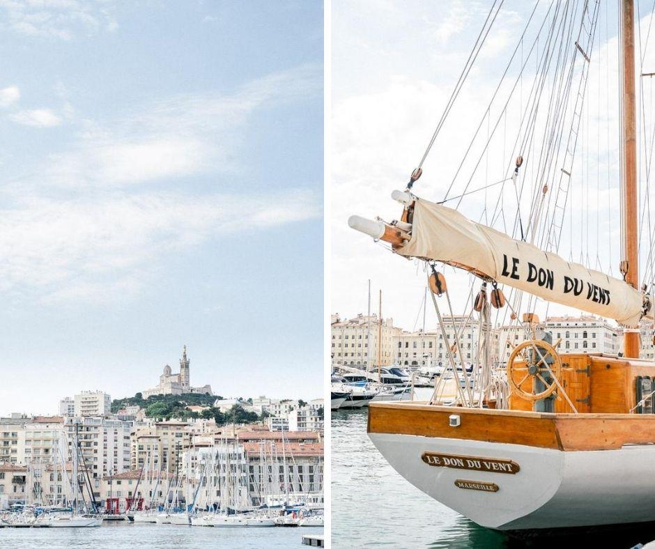 Le don du Von sublime voilier niché en plein coeur de Marsielle est le bateau sur lequel nous avons réalisé le shooting d inspiration Mariage