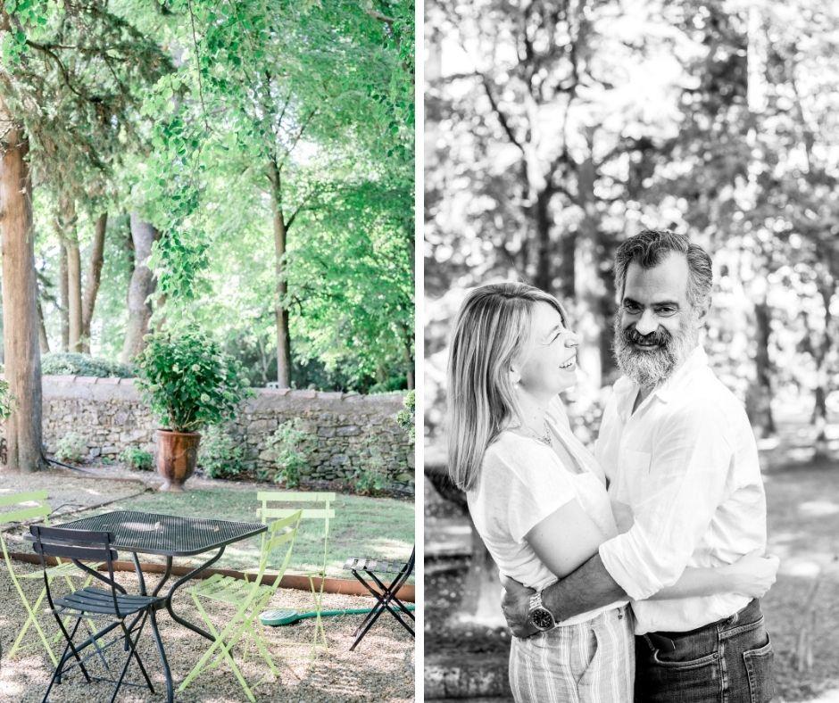 couple en amoureux dans aix en provence lors de leur séance famille