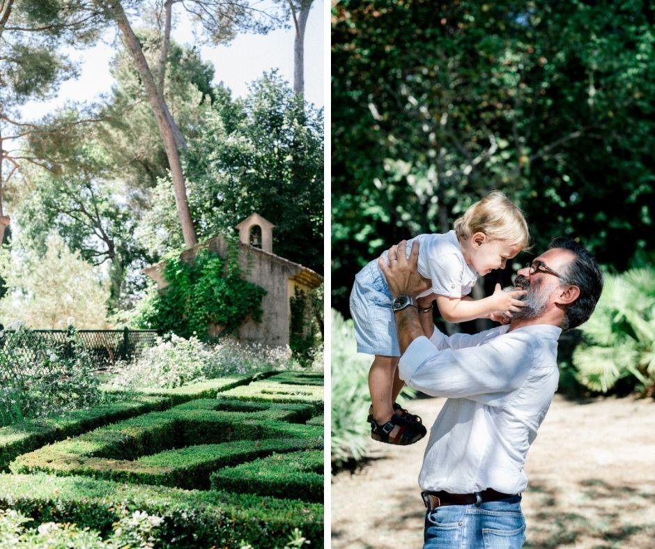 Père et son fils en séance famille dans Aix en Provence