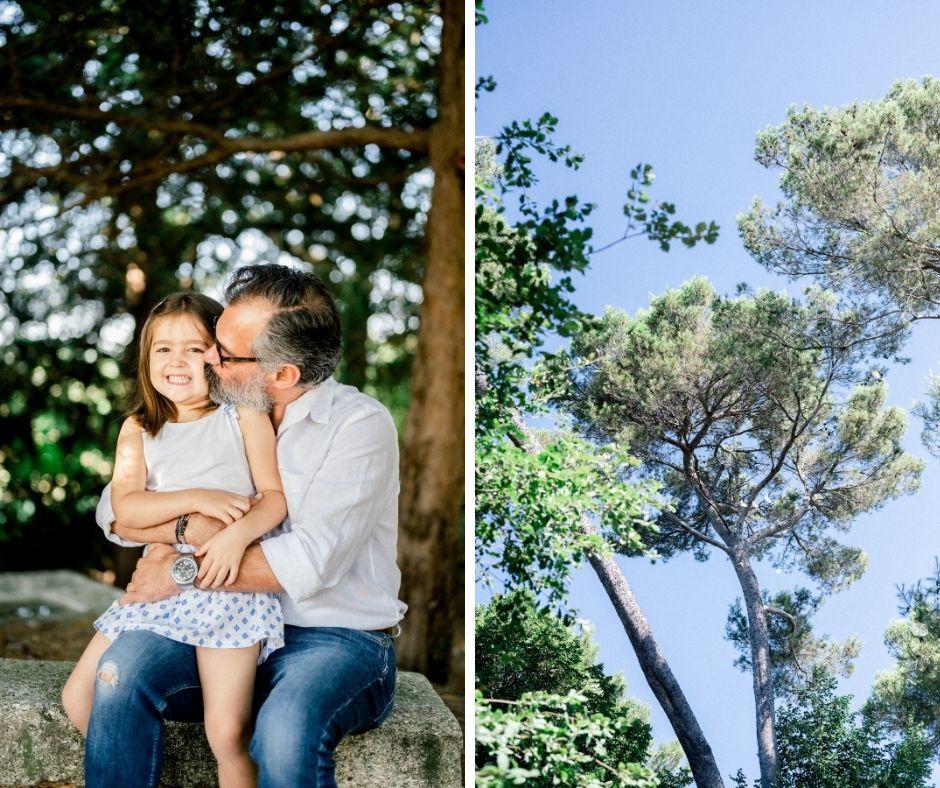 Père et sa fille en séance famille dans Aix en Provence