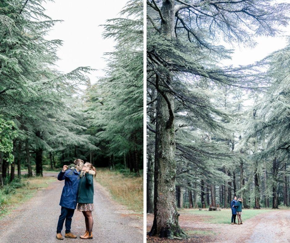Couple dans le Lubéron photographié par Sylvia Calmet photographe de mariage et de famille en Provence