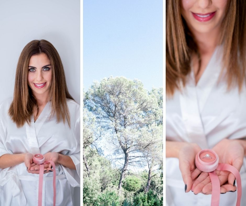 Future mariée photographiée par Sylvia Calmet photographe en provence