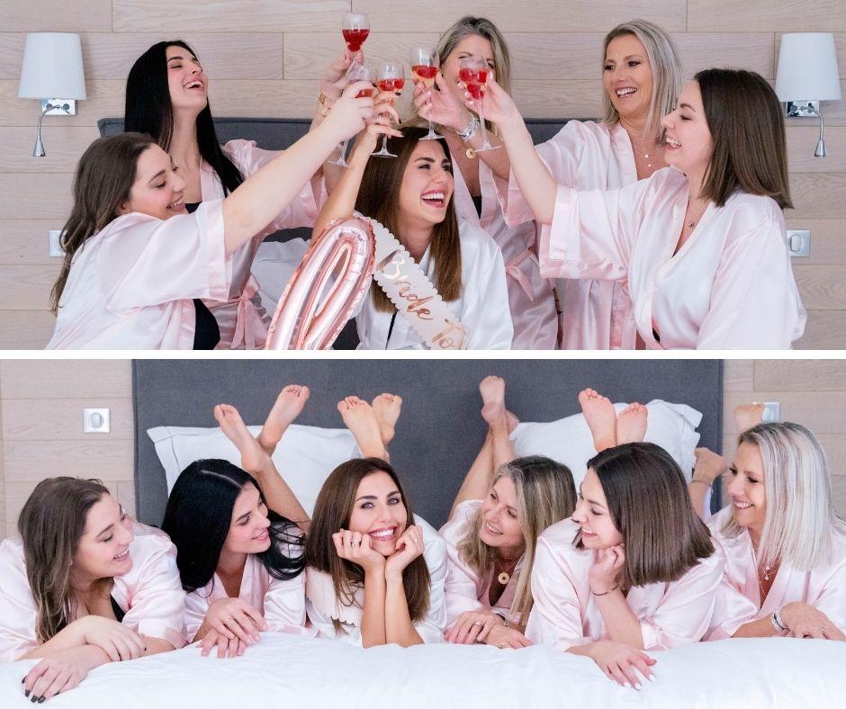 Groupes de femmes pour un enterrement de vie de jeune filles au domaine de rampale