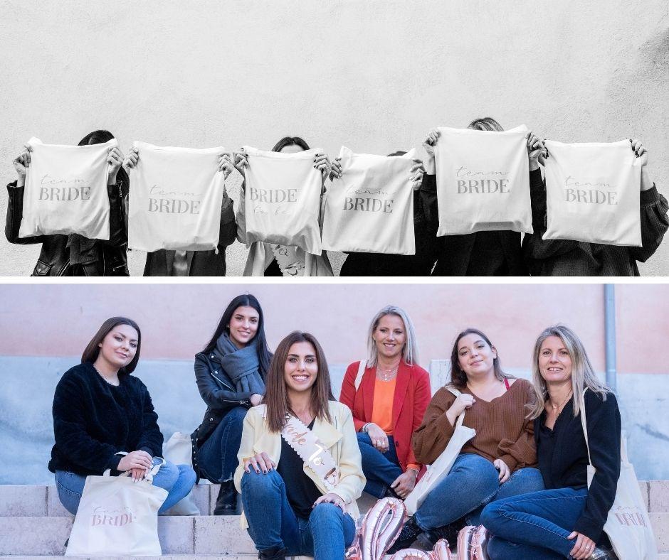 Dans les rues de Fuveau groupes de femmes pour un evjf