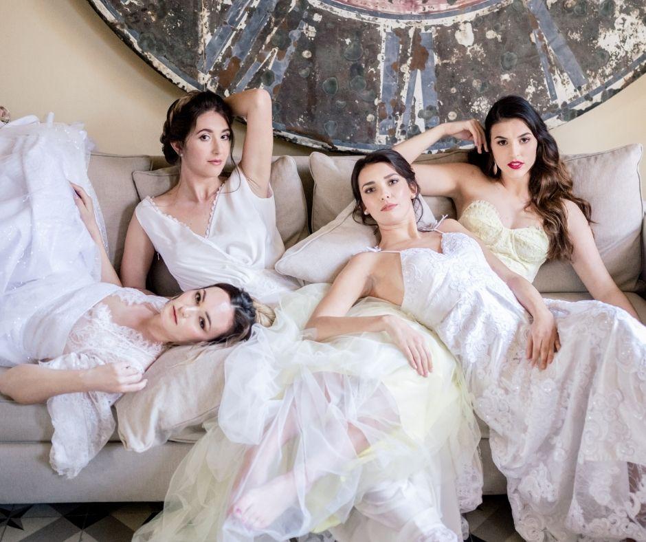 L'ensemble des miss élégance paca pour le shooting mariées au château des demoiselles de la Motte