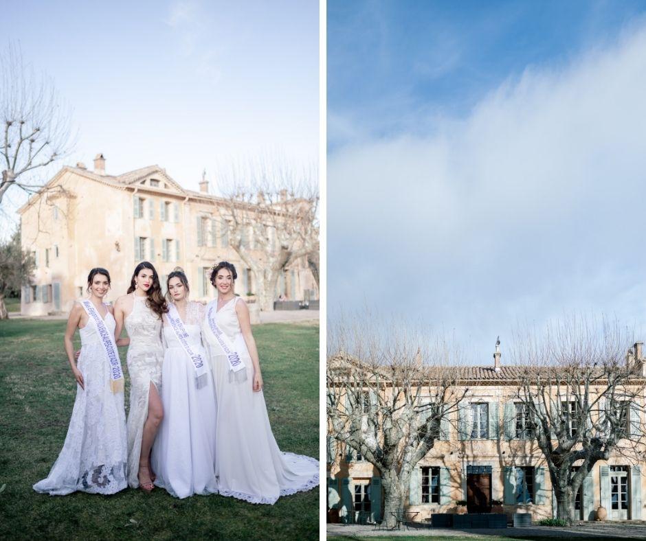 Avec Océane Marinelli, le shooting pour Miss Elegance Paca a été organisé au Château de la Motte