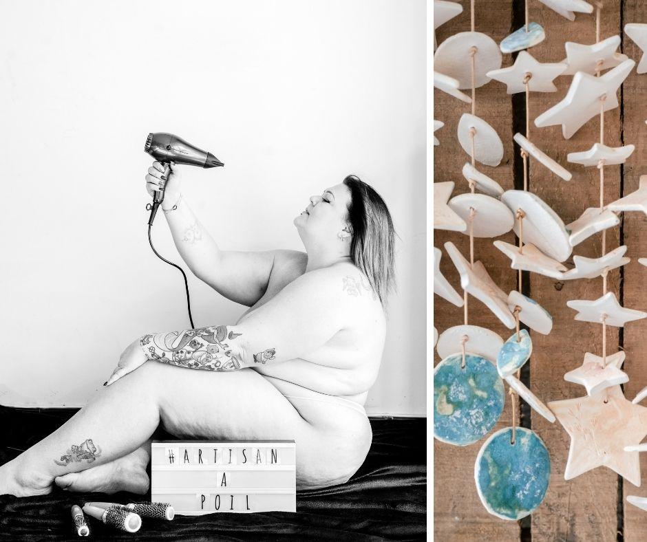 Didine coiffe à domicile photographiée par Sylvia Calmet pour Artisans à Poil