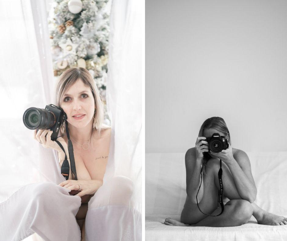 Deux photographes professionnelles photographiée pour Artisans à Poil