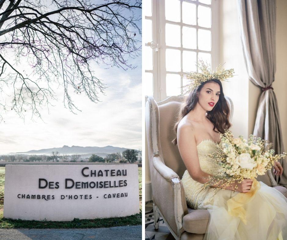 Océane Marinelli au château des demoiselles de la Motte