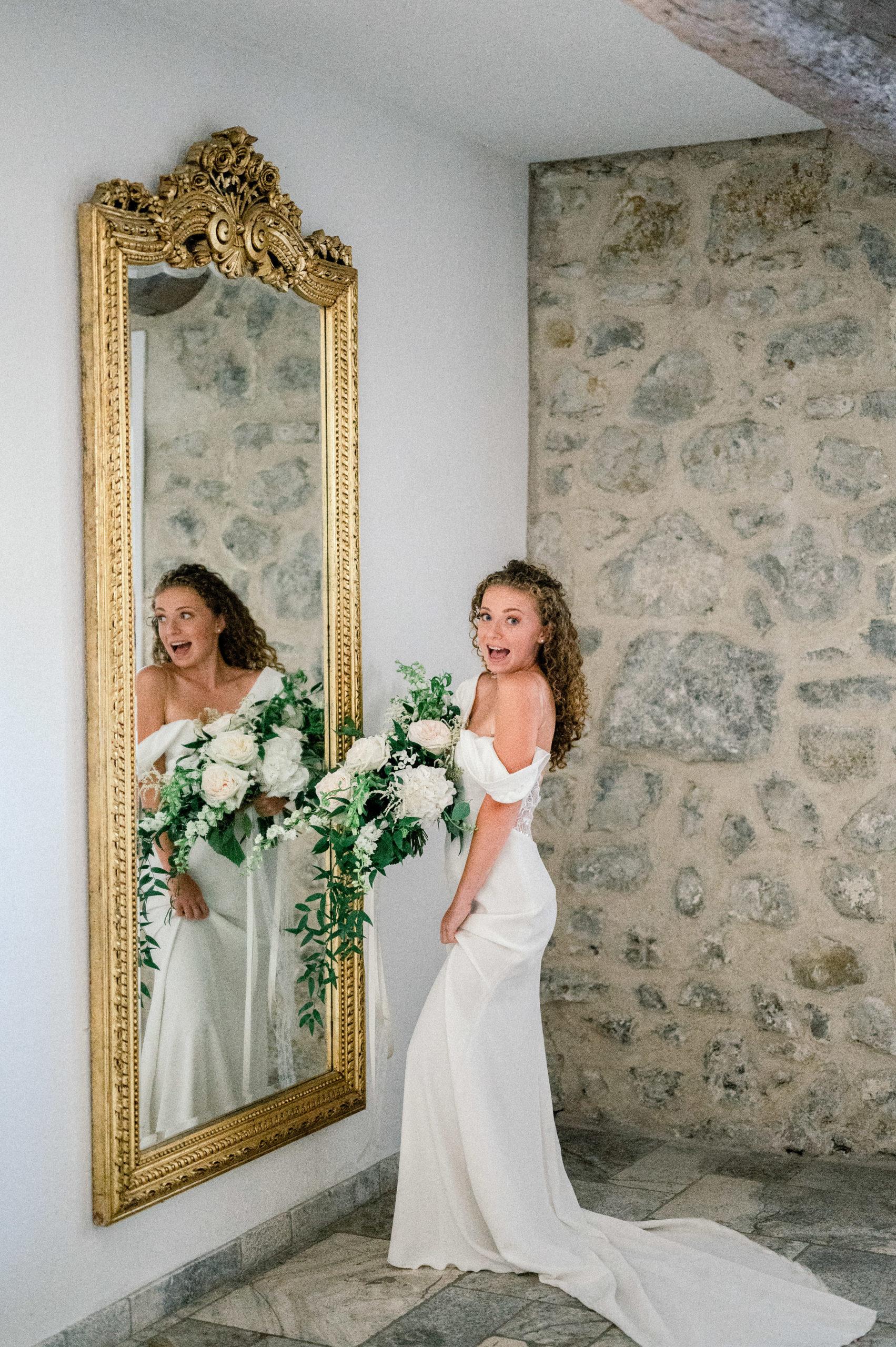 Mariée en plein mariage à Sisteron